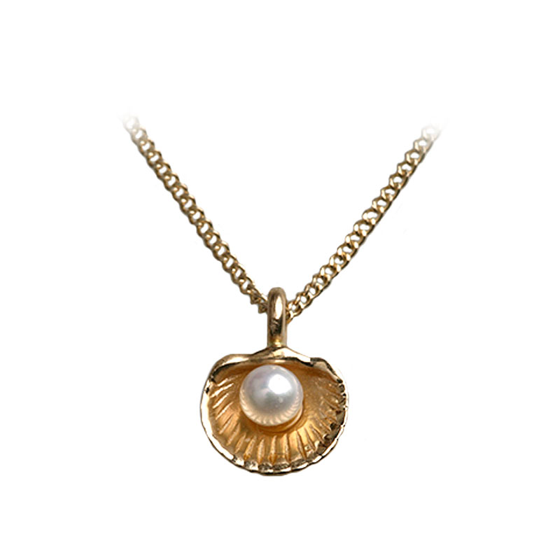 sistersister mother of pearl petit 14K gold