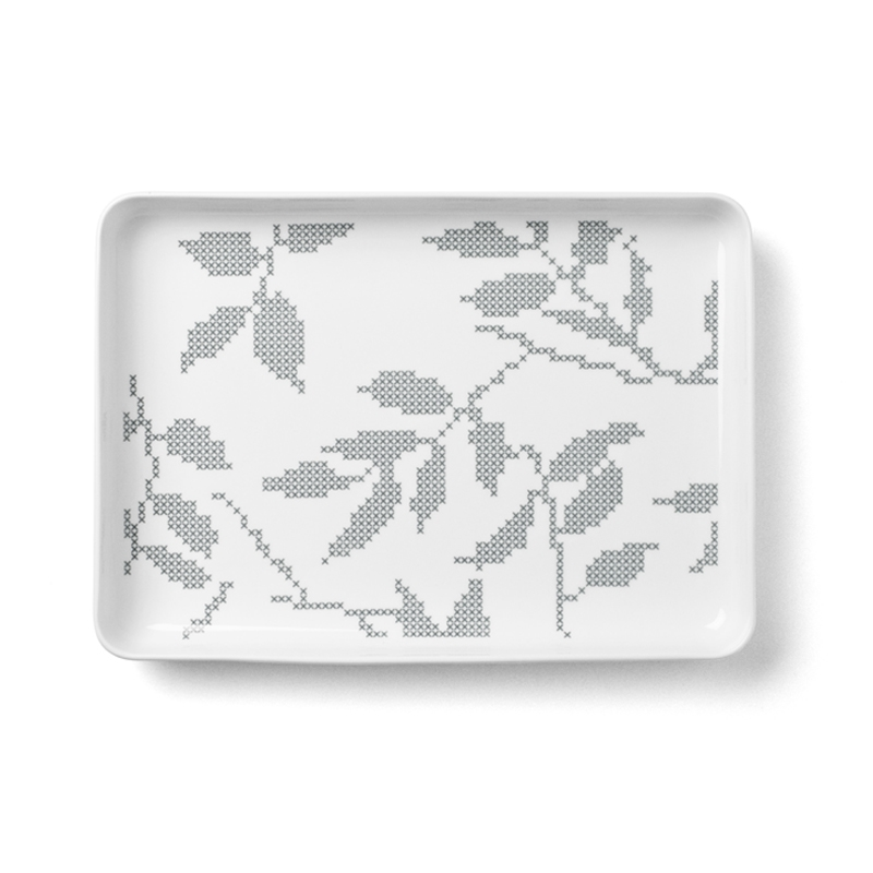 STITCHES RECTANGULAR DISH