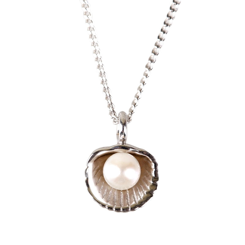sistersister 'mother of pearl petit 14k white gold'