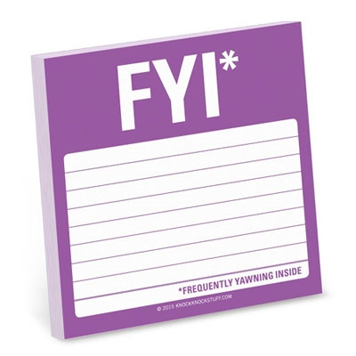 Sticky Note-FYI*