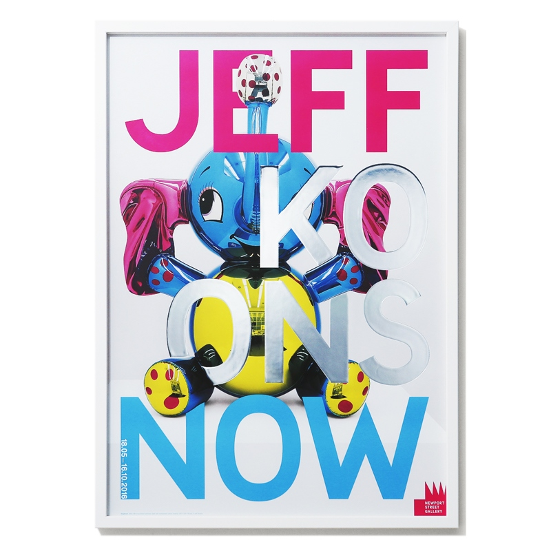 jeff koons  - jeff koons Now Elephant 전시 포스터_주문제작