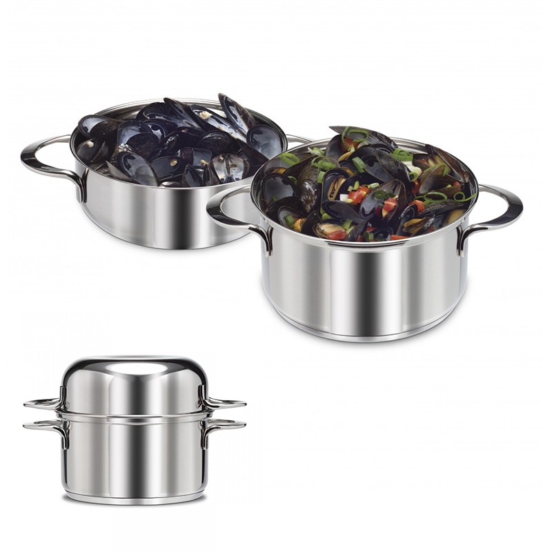 [FINAL TOUCH] Stainless Steel Mussel Pot