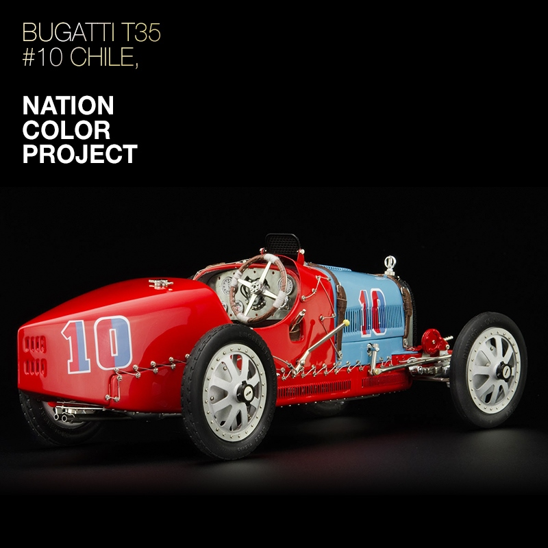 CMC 1:18 Bugatti T35 Nation Color Project Chile, 1924
